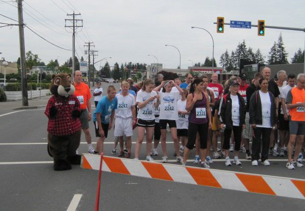 Bucky At The Abbotsford Police Challenge Run