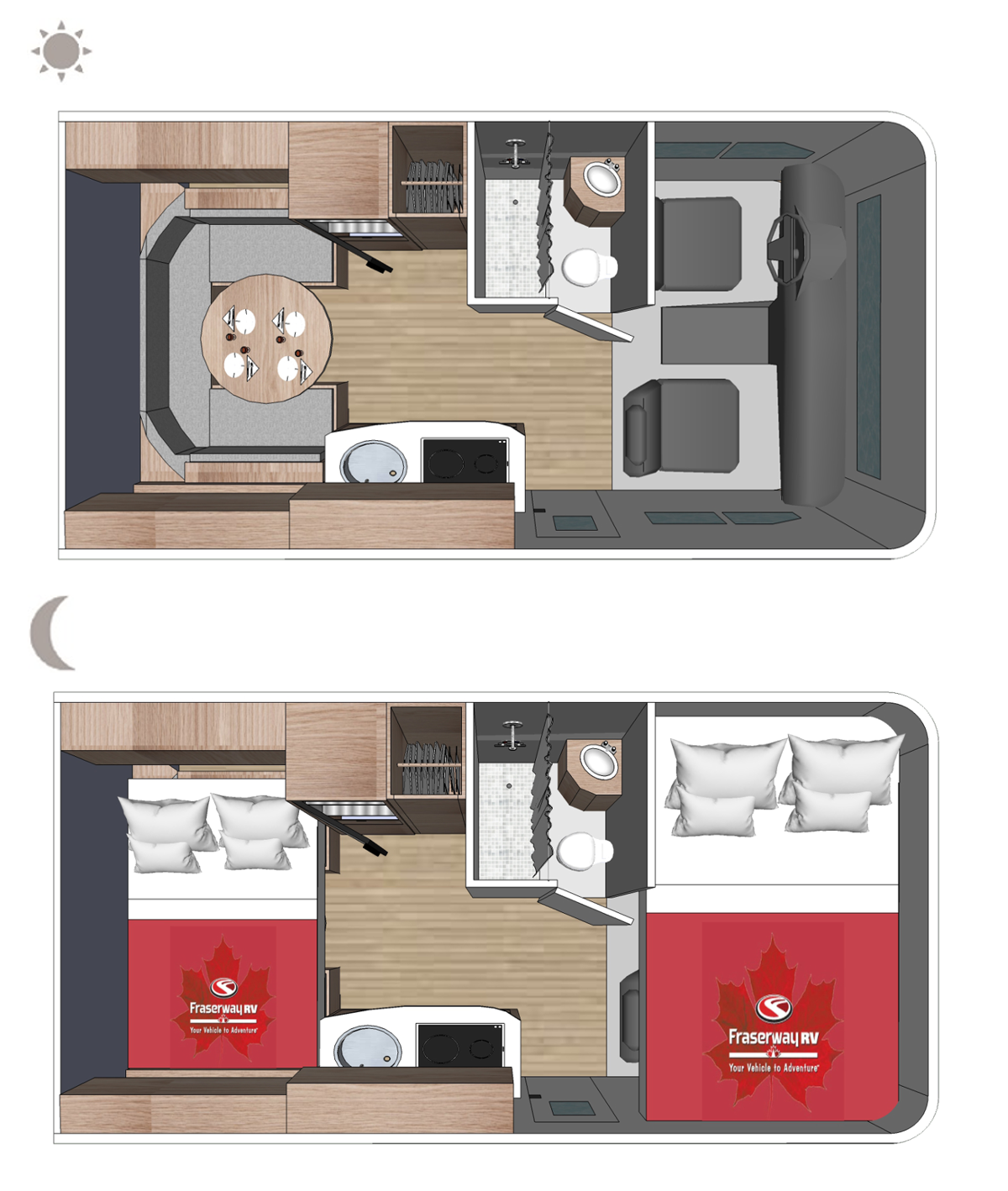 C-Small Floor plan (day and night)