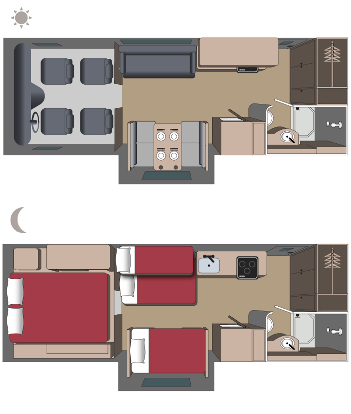 Adventurer4 Floor plan (day and night)