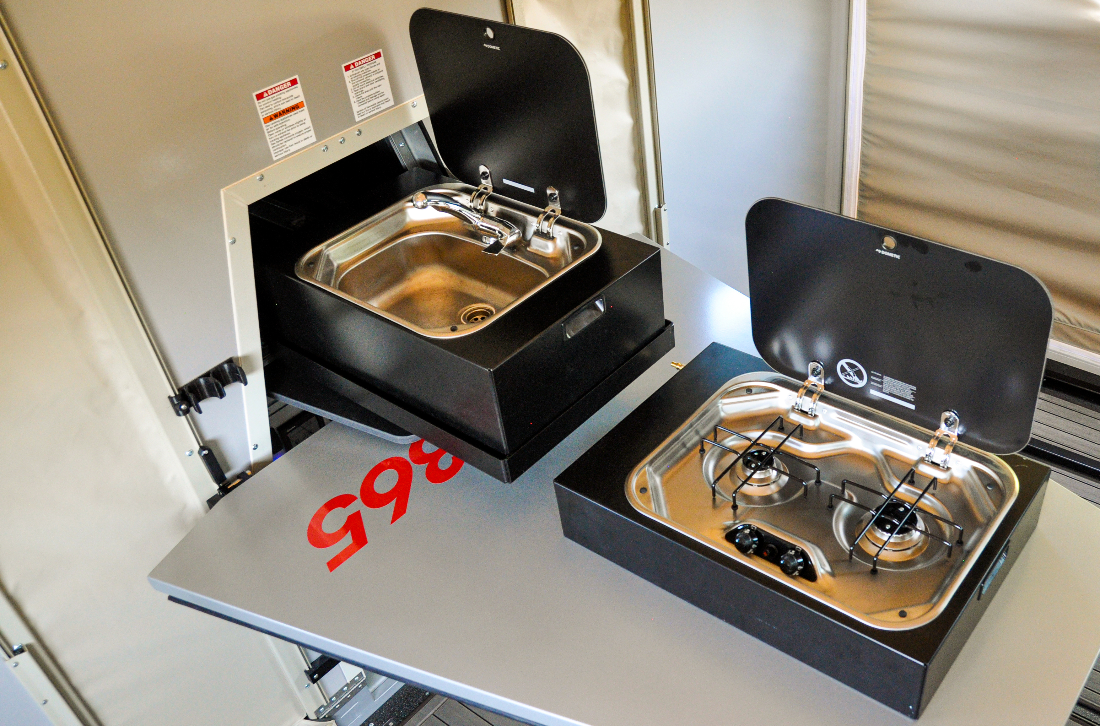 TWO-BURNER, PORTABLE PULL-OUT STOVE