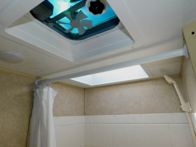 SHOWER SKYLIGHT and CEILING FAN