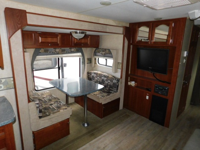 PROWLER 230RK BOOTH DINETTE and ENTERTAINMENT CENTER
