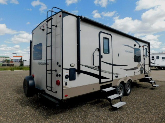 WINDJAMMER 2618VS EXTERIOR REAR with SPARE TIRE and ROOF LADDER