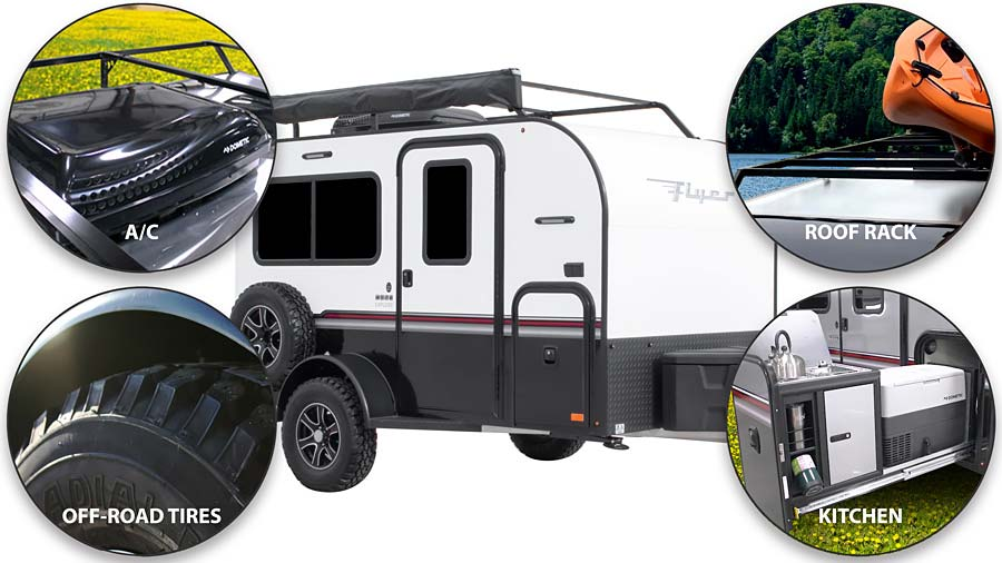 ADVENTURE PACKAGE - OFF-ROAD TIRES, ROOF RACK, A/C, SLIDEOUT KITCHEN - GENERIC IMAGE