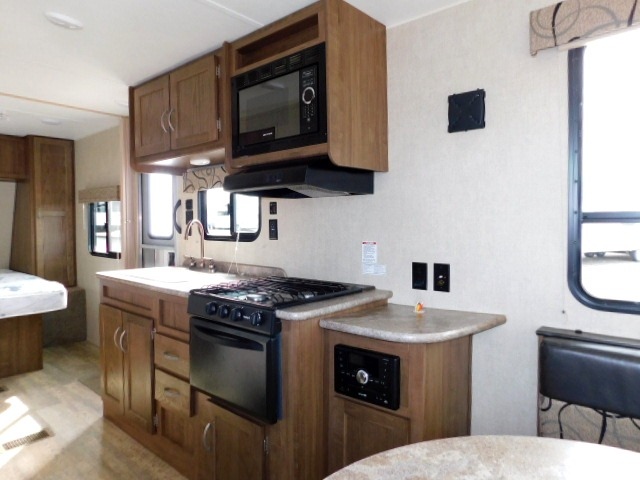 KITCHEN AREA with STEREO, MICROWAVE