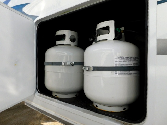 PROPANE COMPARTMENT and TWO TANKS