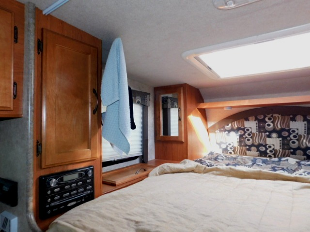 BED AREA with TV, STEREO and CLOSET