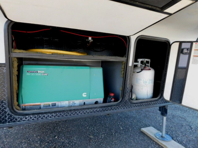 GENERATOR and PROPANE COMPARTMENTS