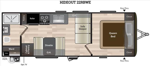 2019 Keystone HIDEOUT 22RBWE For Sale In Leduc