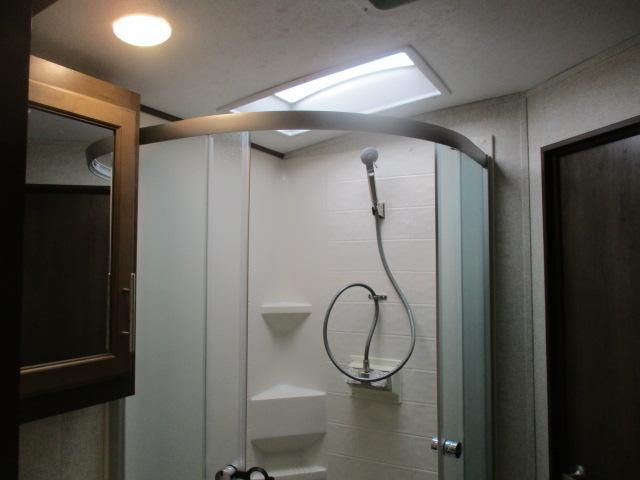 View inside shower
