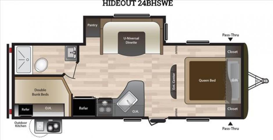 2018 Keystone HIDEOUT 24BHSWE For Sale In Leduc